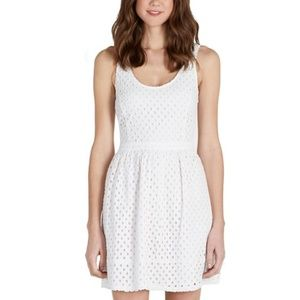 Joie Natrina Dress eyelet lace porcelain white